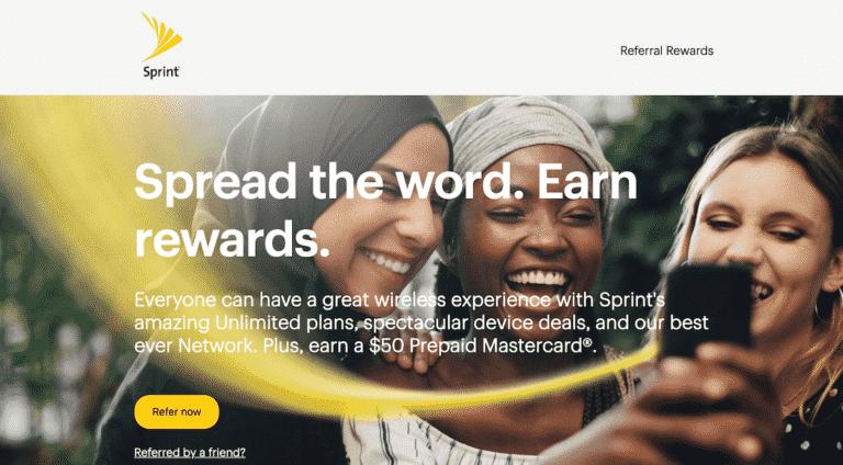 Sprint Referral Program Gets You a $50 Prepaid Mastercard