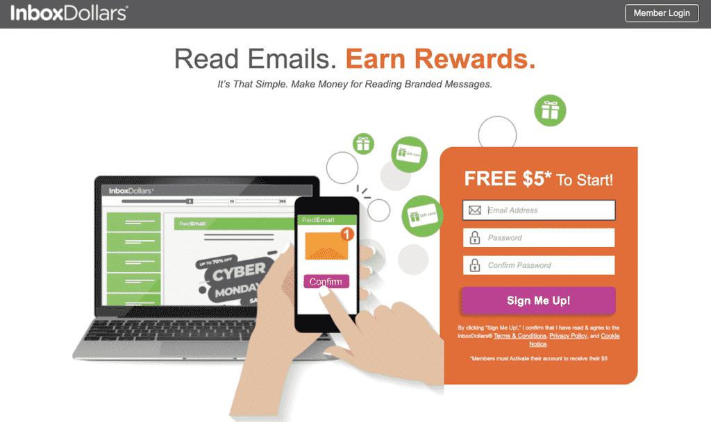 make money reading emails
